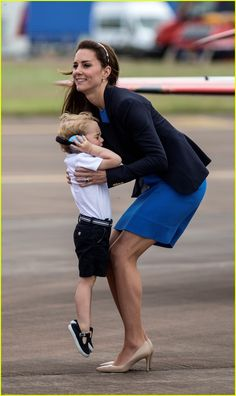 Kate Middleton & Prince George Share Cute Moments at Royal Air Show   kate…