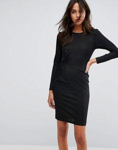 JDY Knot Front Jersey Dress - Black
