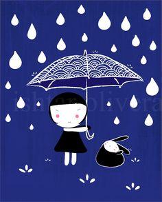 Under the umbrella print by Ishtar Olivera Belart on Etsy.