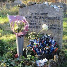 Sylvia Plath's grave in Heptonstall(via Sylvia Plath Info Blog)