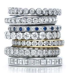 Tiffany diamond stacks