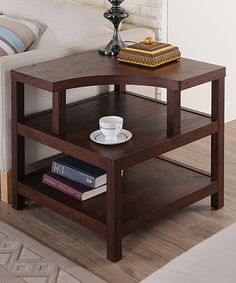 Look what I found on #zulily! Vintage Walnut Modern End Table #zulilyfinds