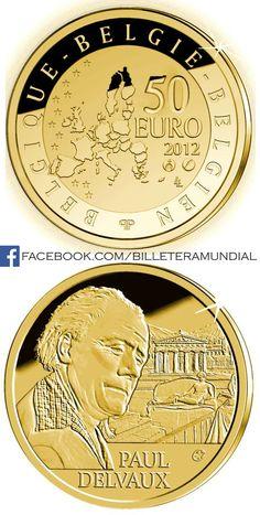 Moneda de Belgica 2012 - 50 Euros // #Coin Piece Euro, Timbre Collection, Euro Coins, All Currency, Gold And Silver Coins, Commemorative Coins, World Coins, Money Matters, Coin Collecting