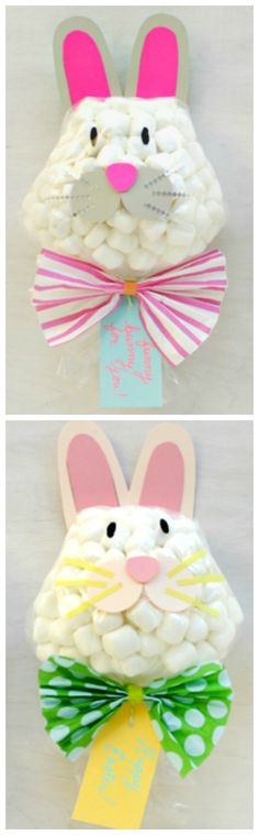 How To Make Funny Bunny Easter Favors ~ These would be so cute in an Easter basket