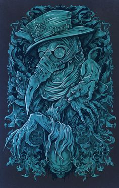 The Black Death on Behance Dark Artwork, Dark Art Drawings, Illustration Vector, Vector Art, Rabe Tattoo, Doctor Tattoo, Satanic Art, Arte Obscura, Occult Art