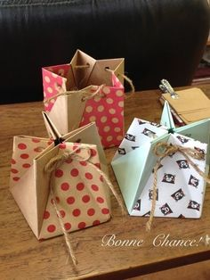 5 paper origami star box                                                                                                                                                      More #giftboxes
