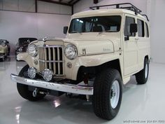 1951 WILLYS OVERLAND 4-WHEEL DRIVE WAGON SPECTACULAR, 2-YEAR, NO EXPENSE SPARED RESTORATION COMPLETED LESS THAN 600 MILES AGO! OVER $72,620 IN RECEIPTS! OPTIONS AND UPGRADES INCLUDE: AIR CONDITIONING POWER STEERING POWER BRAKES LEATHER INTERIOR REAR... Willys Wagon, Jeep Willys, Jeep Pickup, Pickup Trucks, Cool Trucks, Cool Cars, Classic Trucks, Classic Cars, Jeep Scout