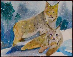 Endangered Species Day art contest 3-5 grade category semi-finalist: Eliza Hagy, Age 10, Canada lynx