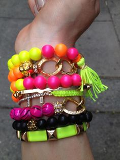 Chantel Gia neon handmade bracelets<3