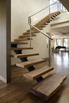 Modern Staircase Design Ideas - Modern stairs are available in several design and styles that can be real eye-catcher in the various location. We have actually put together best designs of stairs that can offer. Open Stairs, Loft Stairs, Floating Stairs, House Stairs, Stairway To Heaven, Modern Staircase, Staircase Design, Escalier Design, Interior Stairs