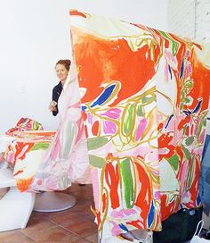 "katie + paulina = ♥♥♥ ""Paulina"" print fabric, Harvey Faircloth S/S artwork by Paulina Reyes www. Textiles, Textile Prints, Textile Design, Matisse, Textures Patterns, Print Patterns, Meditation, Fabric Art, Artist At Work"