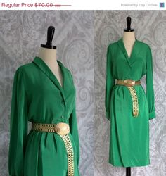 1908s Emerald Green Silk Cocktail Dress $58 by SassySisterVintage ~Click Link Above to Purchase~