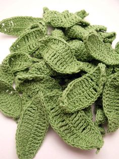 Lots of Lovely Crochet Leaves only £0.50 each!