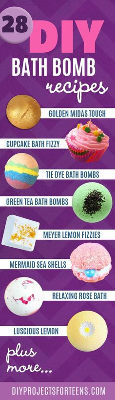 Homemade DIY Bath Bombs | Bath Bombs Tutorial and Recipes Like Lush | Pretty and Cheap DIY Gifts | DIY Projects and Crafts by DIY JOY: