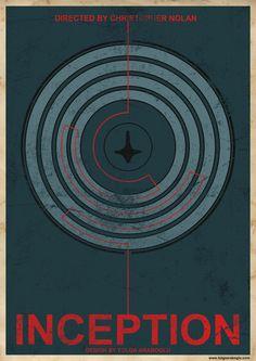 Inception ~ Minimal Movie Poster by Tolga Araboglu Iconic Movie Posters, Minimal Movie Posters, Iconic Movies, Memories Of Murder, Nolan Film, Excellent Movies, Top Film, Movie Covers, Alternative Movie Posters