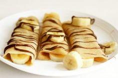 * crêpes chocolat banane *