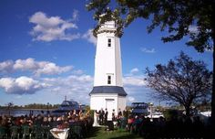 The Buffalo Launch Club Lighthouse can be the perfect backdrop for your outdoor Wedding Ceremony! Cat Wedding, Grand Island, Lighthouse, Special Events, Buffalo, Wedding Ceremony, Westerns, Backdrops, Club