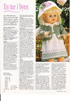 Bilde: Doll Clothes Patterns, Doll Patterns, Clothing Patterns, Stitch Patterns, Crochet Dolls, Crochet Hats, Baby Born, Diy Doll, Baby Knitting