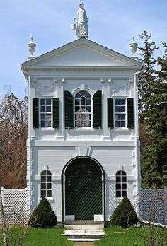 The Derby Summer House, also known as the McIntire Tea-house, is a summer house designed in 1793 by architect Samuel McIntire, now located on the grounds of the Glen Magna Farms, Danvers, Massachusetts.
