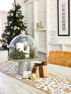 """Answer to """"Decorate This Space: Pick the Right Holiday Centerpiece"""" (http://blog.hgtv.com/design/2012/12/06/answer-to-decorate-this-space-pick-the-right-holiday-centerpiece/?soc=pinterest)"""