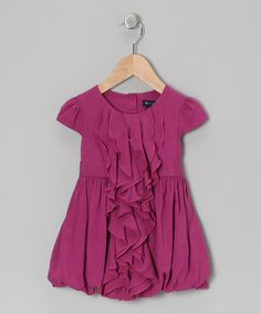 Take a look at this Plum Ellanae Bubble Dress - Toddler & Girls by Periwinkle on #zulily today!