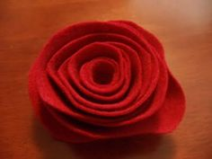 Felt Roses- so many uses! HECK FRIDAYS: Felt Flowers Tutorial