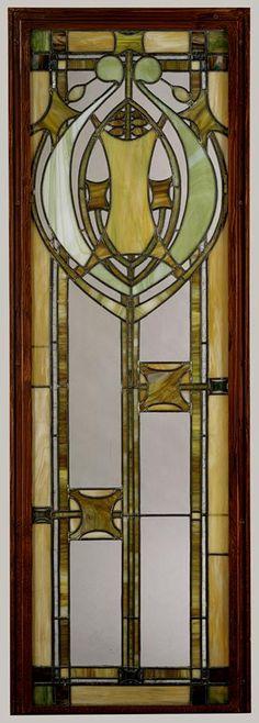Window from J. G. Cross House, Minneapolis, Minnesota, 1911 George Grant Elmslie (American, 1871–1952); Purcell, Feick and Elmslie (American, 1909–13)
