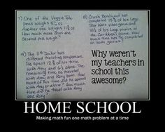 haters gonna hate... :) Homeschool rocks.