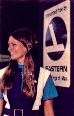 Hostess attends the entrance in 1972