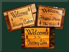 Home Decor. Personalized Custom Wood Sign. Wood Sign Welcome to Your Cabin. $62.95, via Etsy.