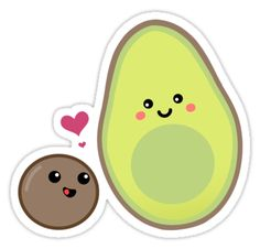 (notitle) - DIY - - stickers - # stickers - Oh happy day - Aguacate Stickers Cool, Cartoon Stickers, Tumblr Stickers, Printable Stickers, Laptop Stickers, Cactus Stickers, Cute Avocado, Aesthetic Stickers, Scrapbook Stickers