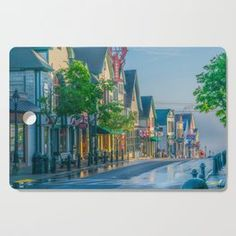 Bar Harbor Maine Main Street Dawn Print Cutting Board