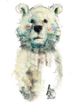 Bear くまったなぁ パステル イラスト Illustration by watanabemarico                                                                                                                                                      もっと見る
