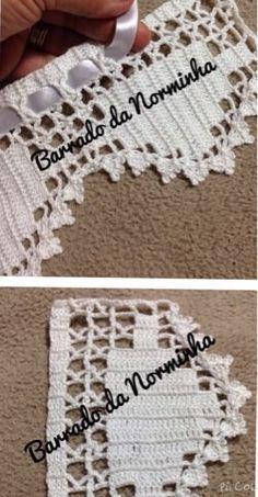 OFICINA DO BARRADO: Croche - um Barradinho com Rosinha invertidas ..