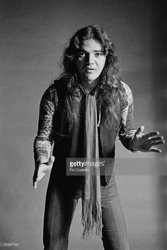 Guitarist Tommy Bolin (1951-1976) from Deep Purple posed at Columbia rehearsal studios in Los Angeles, USA in November 1975 prior to the band's tour of Asia.