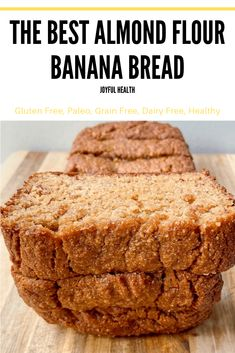 The Best Almond Flour Banana Bread Banana Bread Almond Flour, Banana Bread With Applesauce, Cinnamon Banana Bread, Gluten Free Banana Bread, Vegan Banana Bread, Almond Flour Recipes, Easy Banana Bread, Coconut Flour, Keto Bread