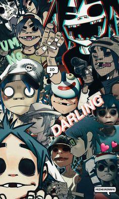 2D {Gorillaz} Wallpaper Phone by MishkaGammi.deviantart.com on @DeviantArt