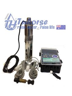 "Tuhorse Pumps - 4""  1000W/110V Screw Submersible Solar Bore Pump"