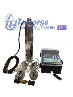 """Tuhorse Pumps - 4""""  1000W/110V Screw Submersible Solar Bore Pump"""