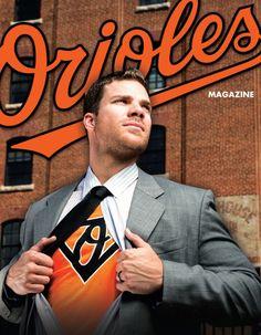 Chris Davis strikes Superman pose for 'Orioles Magazine'