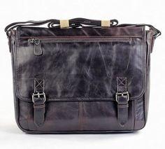 """Vintage Handmade Antique Leather Messenger Bag / Satchel / 11"""" MacBook Air Bag"""