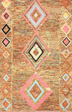 $5 Off when you share! Berber Moroccan SM17 Multi Rug | Contemporary Rugs #RugsUSA