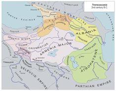 Transcaucasia 2nd BC. Proto-Laz devleti Kolhis ve bu devletin sınırları dışında kalan Lazlar (Tzannoi/Sanniler).