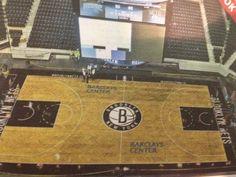 Brooklyn Nets basketball floor at Barclays Center (h/t NY Post).