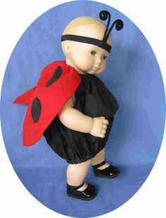 American Girl BITTY BABY doll clothes Ladybug Halloween costume 15 in doll clothes lady bug costume on Etsy, $13.95