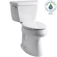 KOHLER Highline Classic the Complete Solution 2-piece 1.28 GPF Single Flush Elongated Toilet in White - K-11499-0 - The Home Depot