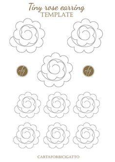 DIY spring earrings with template - Tutorial orecchini diy con template CARTAFORBICIGATTO