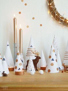 Chic et simple : la déco de Noël blanche et or