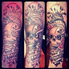 The Amity Affliction bmx forearm tattoo