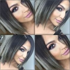 short hair ombre grey - Cerca con Google Más